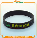 Colorful Silicone Bracelet with Embossed Logo
