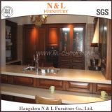 N et L type de luxe de classique de meubles de cuisine en bois solide de modèle
