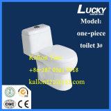 Toilette de salle de bains de la d'une seule pièce 3# en articles sanitaires d'usine