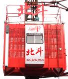 Fabricante dobro Certificated Ce do elevador da construção da freqüência da gaiola de Sc100/100d