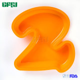 Les silicones faciles de catégorie comestible de déplacement font le gâteau cuire au four le numéro 2 de moulage