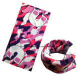 OEM Produce Conception personnalisée Printed Army Pink Polyester Sports Neck Tube Scarf