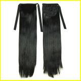 長くまっすぐに黒く総合的な毛のポニーテール