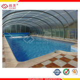 prix solide de feuille de polycarbonate UV-Résistant de 2-8mm de couverture de piscine