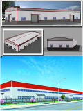 Instalación de la estructura de acero, almacén y taller ligeros prefabricados (DG2-019)