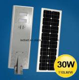 5 ans de la garantie DEL du réverbère 25W de réverbère solaire solaire tout dans un