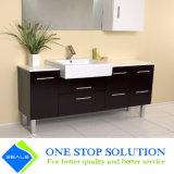 Gabinete de banheiro do revestimento da laca da cor do chocolate