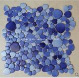 Tuile de mosaïque en céramique bleue pour la salle de bains de piscine