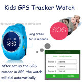 Montre imperméable à l'eau de traqueur des gosses GPS avec le bouton de SOS (D11)