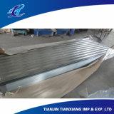Tetto d'acciaio galvanizzato preverniciato ondulato