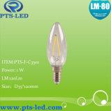 Iluminación de la vela del filamento de C35 1W 2W 3W 4W LED