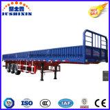 De hete Semi Aanhangwagen van het Nut van de Vrachtwagen & ZijRaad van de Container/Zijgevel/Omheining/Zijwand/Buffet 3 de Aanhangwagen van de Lading stortgoed van Assen
