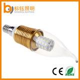 Usina que ilumina a luz de bulbo elevada energy-saving da vela do diodo emissor de luz da lâmpada E14 E27 AC85-265V do lúmen 5W