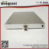 1000m2 tri ripetitore mobile potente del segnale della fascia GSM/Dcs/WCDMA 900/1800/2100MHz con l'antenna