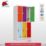 Casier coloré de porte en métal 6 d'utilisation d'école avec le miroir et l'étagère