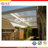 Come installare il tetto piano del policarbonato del tetto del policarbonato