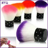 Escova redonda útil confortável da composição da face da escova de limpeza do prego da escova da poeira do prego de 9 cores