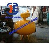 Válvula de esfera de flutuação soldada API/DIN do aço do molde de Wcb