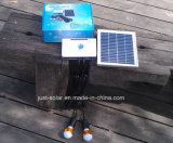 Sistema de iluminación de la batería solar LED de tres cuartos de los 90m con la radio de FM y el jugador MP3