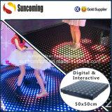 Diodo emissor de luz Dance Floor do efeito da cor da rotação da iluminação do estágio
