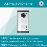 Interpréteur de commandes interactif visuel de téléphone de porte (AD-536ZK-3-A) pour la villa