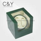 Enrolador de relógio duplo de cerejeira Custom Sqaure de qualidade superior