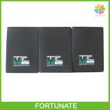 O PVC preto do plástico carda o suporte de cartão do banco do suporte de duas camadas