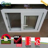 Choc en acier en plastique Windows coulissant d'ouragan d'UPVC/PVC