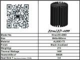 8W 12W 14W DEL Using l'excellent radiateur de anodisation du diamètre 48mm DEL d'aluminium de dissipation thermique