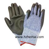 DMF geben PU beschichteten Schnitt-beständigen Arbeits-Handschuh frei