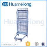 Nestable Mild Steel Laundry Storage Folding Trolley Cart