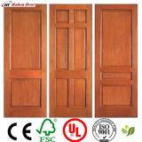 Porte intérieure/extérieure en bois solide d'oscillation de bois de construction/porte en bois de bois de construction/porte en bois de bois de construction