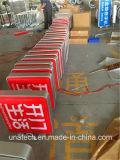 Quadro de avisos plástico quadrado do indicador do vácuo da caixa leve de Quadrate do retângulo lateral ao ar livre interno do diodo emissor de luz do banco da rua