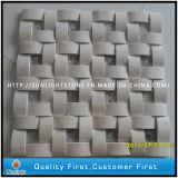 장식 벽 배경을%s 자연적인 백색 대리석 돌 예술 모자이크