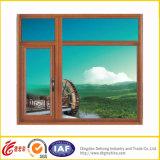 Het dubbel verglaasde het Lage Openslaand raam van pvc van het Glas van E