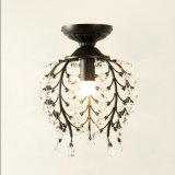 restaurante del hotel Mini vela de cristal de metal iluminación de techo de la lámpara de la lámpara de Negro / color bronce