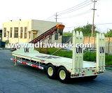 3販売のための半車軸13m長さ60tonsのGooseneckのLowbedのトレーラー