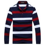 Втулки людей способа OEM рубашка пола изготовленный на заказ длинней Striped