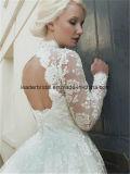 花嫁の服のレースの膝長さの夜会服Z2078と結婚する高い首