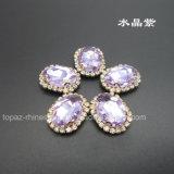 De buitensporige het Plaatsen van de Klauw Kristallen naaien op Bergkristal (sW-Navette 13*18mm)