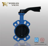 Elastisches Seated Fully Rubber Coated Lining Butterfly Control Valve für Desulfurization (D7A1X-10/16)