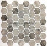 Mozaïek van het Glas van het Lichaam van de nieuwste Technologie het Volledige Houten Hexagon