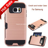 Cas de téléphone cellulaire pour Samsung, caisse par la carte de crédit de support