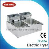 台所のための二重タンク電気開いたフライヤー