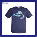 Camiseta de algodón unisex impreso a medida de color sólido