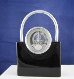 Horloge de Tableau en métal petite d'horloge en métal de bureau d'antiquité décorative d'horloge