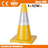 Conos del tráfico del verde de la carretera del pilón de la construcción de carreteras