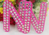 Permant Verlegenheits-Kristalldiamant-selbstklebende Zeichen-Aufkleber-Alphabet-Zeichen-Aufkleber (TS-524)
