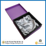 紫色カラー正方形ペーパーギフト用の箱(GJ-Box024)