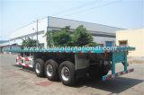 3 d'essieux du faisceau 40FT de lit plat de conteneur de transport remorque droite semi